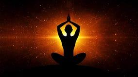 Yoga dans une puissance de rayons banque de vidéos