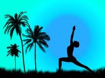 Yoga in de aard stock fotografie