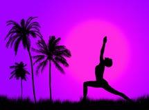 Yoga in de aard Stock Afbeeldingen