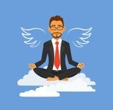 Yoga de bureau Photographie stock libre de droits