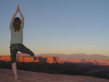 yoga de canyonlands Photos libres de droits