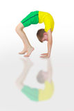 Yoga de Dhanurasana imagen de archivo