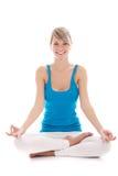 Yoga de femme Photographie stock libre de droits
