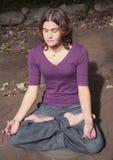 yoga de femme Photographie stock