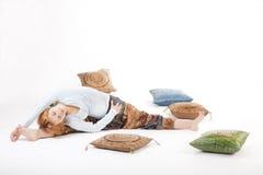Yoga de fille Photographie stock