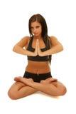 Yoga de fille Photos stock