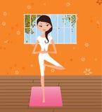 yoga de fille Image stock