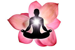 Yoga de fleur de Lotus Photos stock