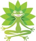 Yoga de grenouille illustration stock
