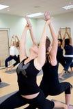 yoga de groupe Photographie stock