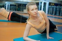 Yoga de la aptitud Imagen de archivo libre de regalías