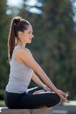 Yoga de la calle: relajación Fotografía de archivo libre de regalías
