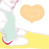 Yoga de la mañana Fotografía de archivo libre de regalías