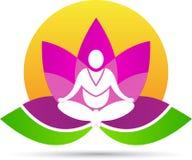 Yoga de la meditación de Lotus ilustración del vector