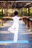 Yoga de la mujer fotos de archivo