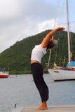Yoga de la mujer Fotografía de archivo libre de regalías