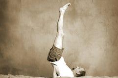 Yoga de la vendimia Foto de archivo