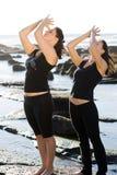 Yoga de las mujeres Fotos de archivo