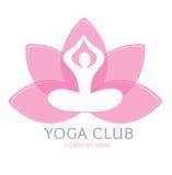 Yoga de logo Photos stock