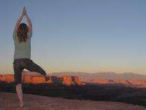 yoga de los canyonlands Fotos de archivo libres de regalías