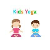 Yoga de los niños Fotografía de archivo