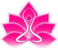Yoga de Lotus Fotografía de archivo