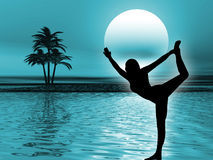 yoga de méditation illustration libre de droits