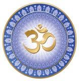 Yoga de mandala de l'OM Photographie stock libre de droits
