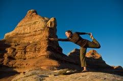 Yoga de matin Photos libres de droits
