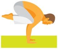 yoga de mens stelt binnen kraan royalty-vrije illustratie