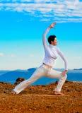 Yoga de montagne Photographie stock