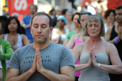 Yoga de New York City photos libres de droits