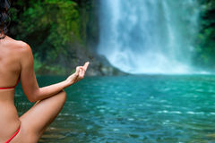 yoga de plan rapproché Photographie stock