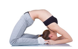 Yoga de pratique photo stock