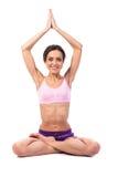 Yoga de pratique. Belle femme Photographie stock libre de droits