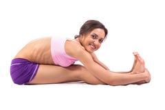 Yoga de pratique. Belle femme Photo stock