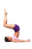 Yoga de pratique. Belle femme Photos libres de droits