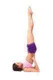 Yoga de pratique. Belle femme Image stock