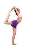 Yoga de pratique. Belle femme Photos stock
