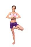 Yoga de pratique. Belle femme Images libres de droits
