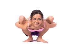 Yoga de pratique. Belle femme Photo libre de droits