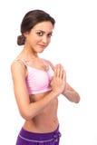 Yoga de pratique. Belle femme Image libre de droits