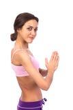 Yoga de pratique. Belle femme Photographie stock