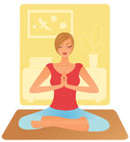Yoga de pratique de femme Images stock