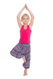 Yoga de pratique de fille douce Photo stock