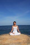Yoga de Sea Foto de archivo