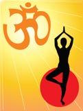 yoga de symbole d'aum Photographie stock libre de droits