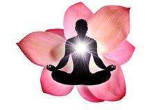 Yoga del fiore di Lotus fotografie stock