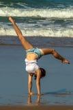 Yoga del gimnasta Imagen de archivo libre de regalías