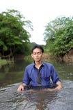 Yoga del hombre de negocios imagen de archivo libre de regalías